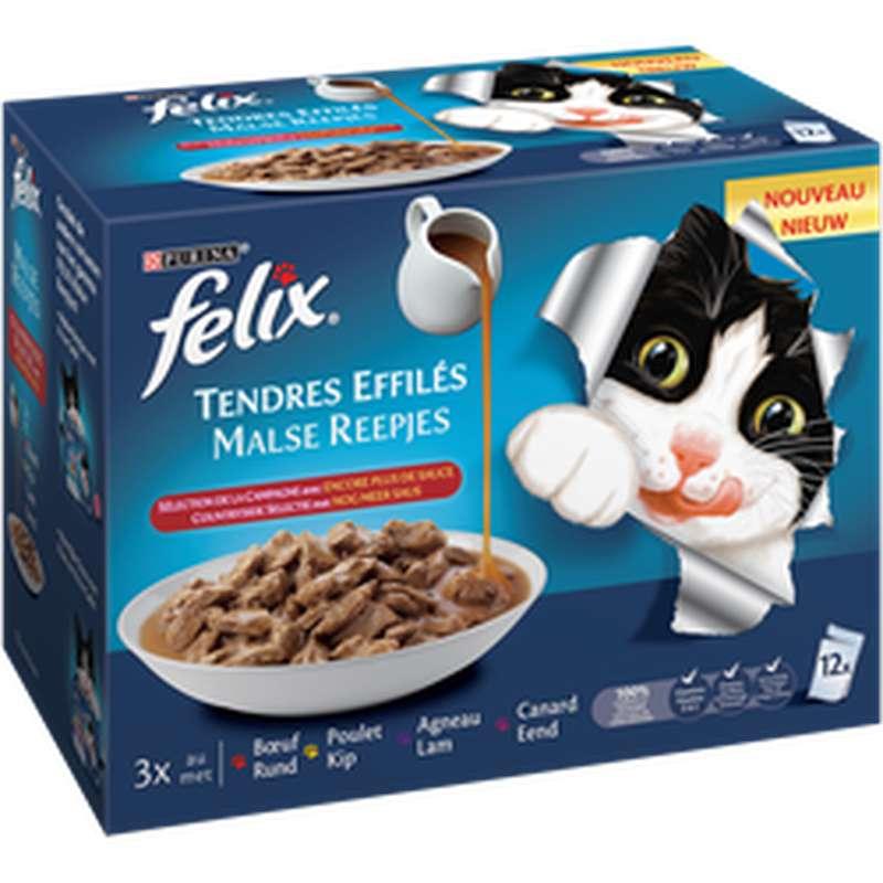 Tendres effilés sélection campagne, Felix (12 x 85 g)