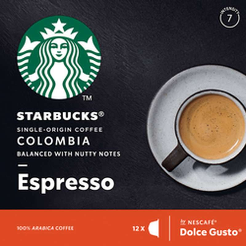 Café capsule Colombia Espresso, Starbucks by Dolce Gusto (x 12)