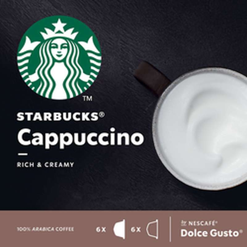 Café capsule Cappuccino, Starbucks by Dolce Gusto (x 12)