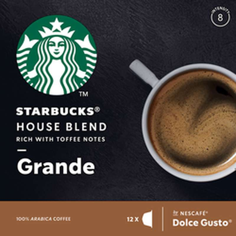Café capsule House Blend Grande, Starbucks by Dolce Gusto (x 12)
