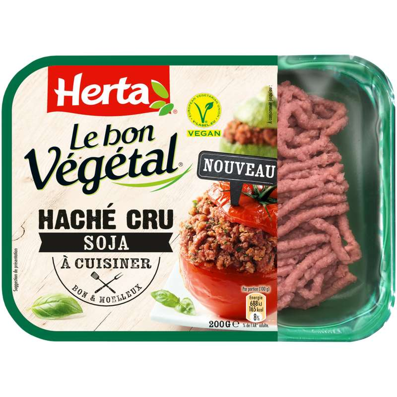 Hâché cru de soja Le Bon Végétal, Herta (200 g)