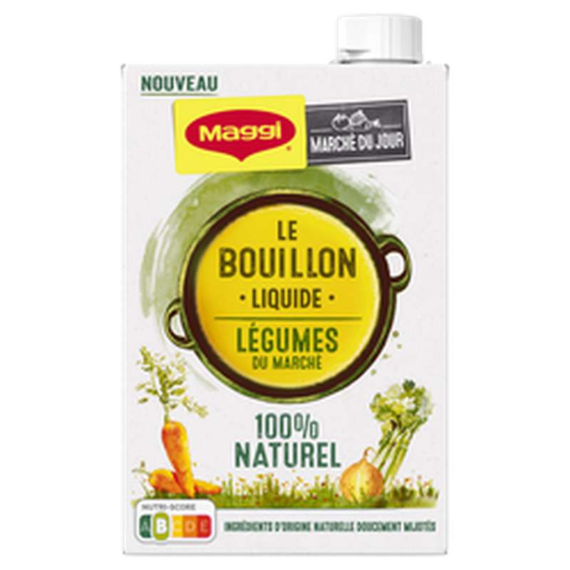 Bouillon liquide de légumes, Maggi (400 ml)