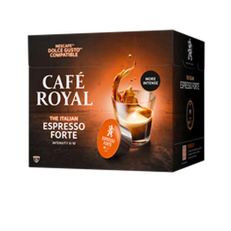 Café capsule Espresso forte compatible Dolce Gusto, Café Royal (x 16, 109 g)