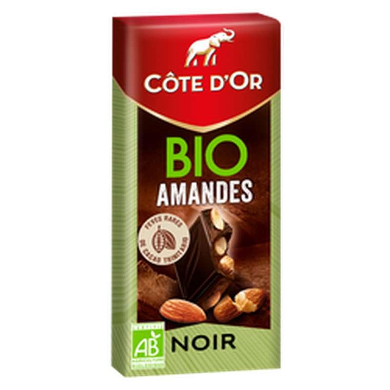 Chocolat noir aux amandes BIO, Côte D'or (150 g)