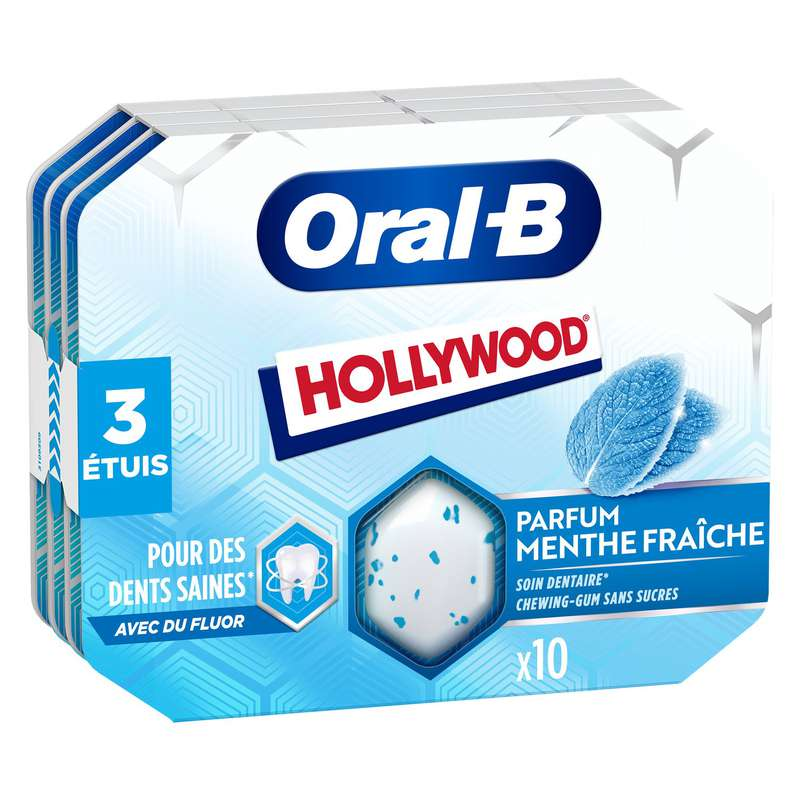 Chewing-gum menthe fraîche, Hollywood (17 g)