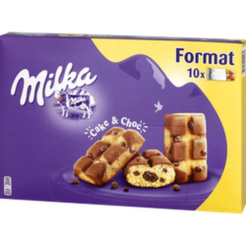 Gâteaux moelleux au chocolat Cake & Choc, Milka (x10, 350 g)