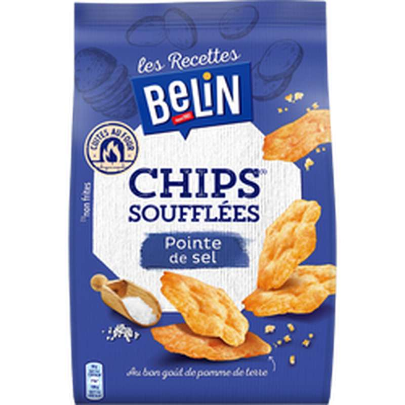 Chips fines soufflés au four Les Recettes, Belin (100 g)