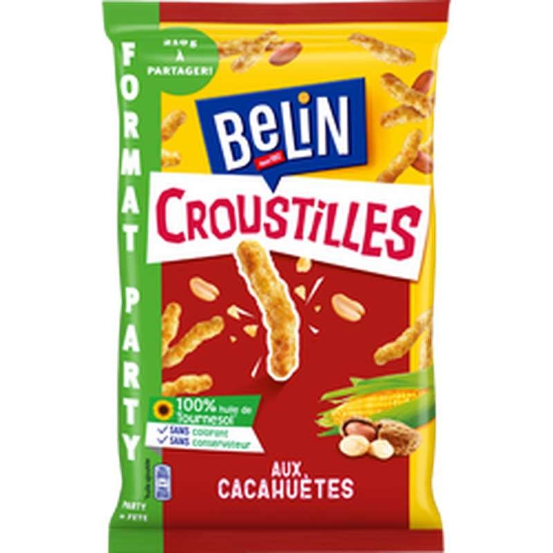 Biscuits apéritifs Croustille cacahuètes party, Belin (210 g)