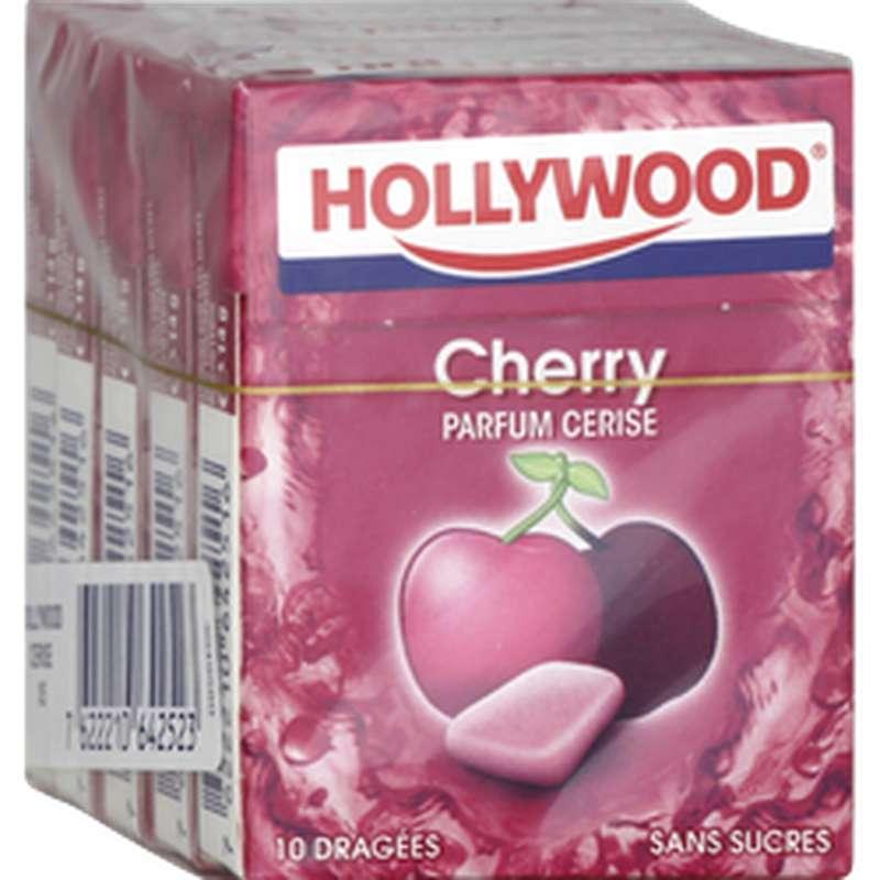 Chewing gum sans sucres parfum cerise, Hollywood (70 g)