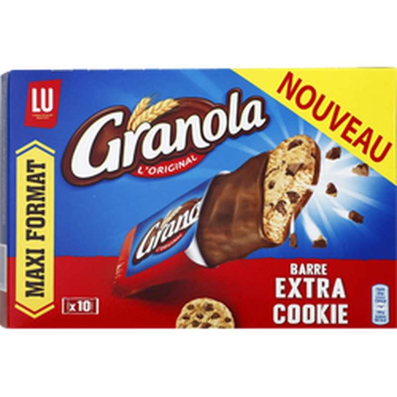 Barre extra cookies maxi format, Granola (280 g)