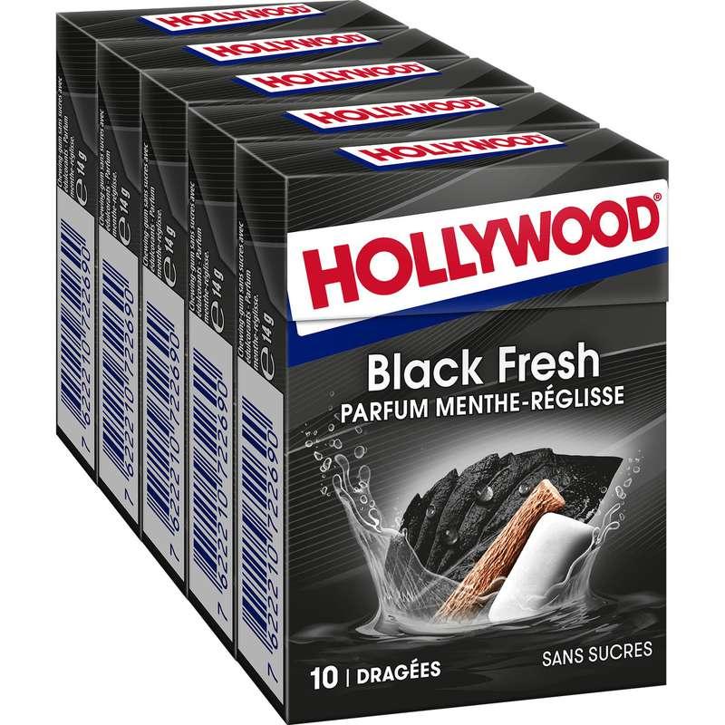 Chewing-gum Blackfresh sans sucres, Hollywood (70 g)