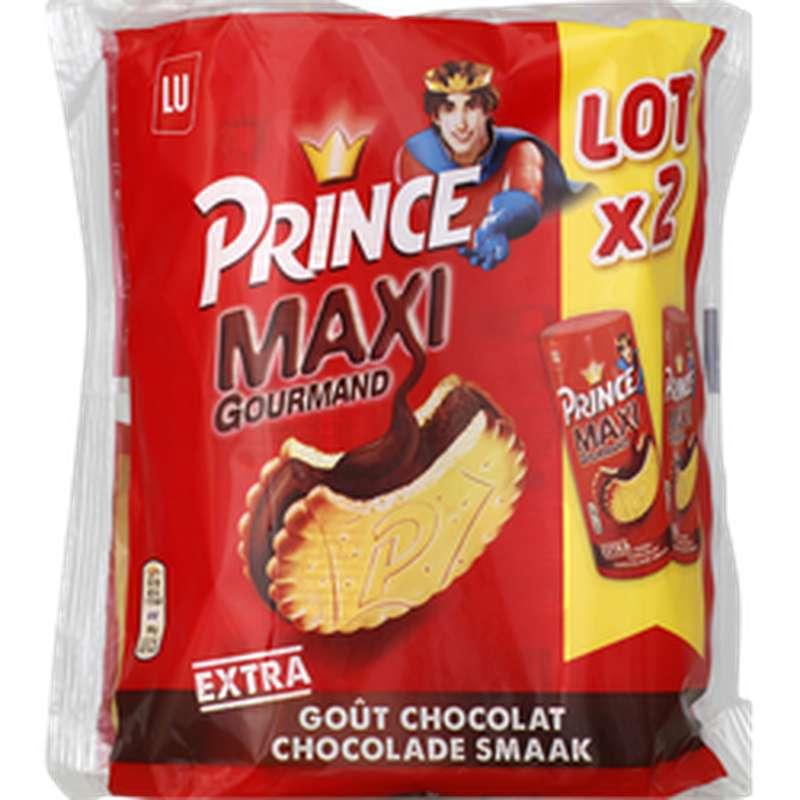Biscuit Prince Goût Chocolat Maxi, Lu (2 x 250 g)