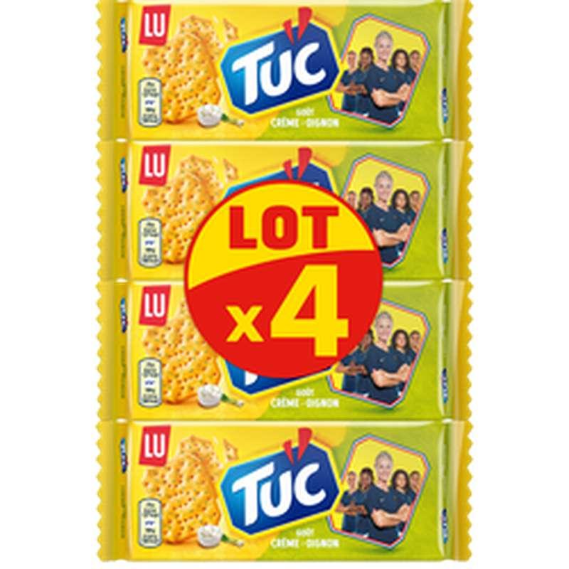 Crackers Tuc Crème et Oignons, Lu LOT DE 4 (4 x 100 g)