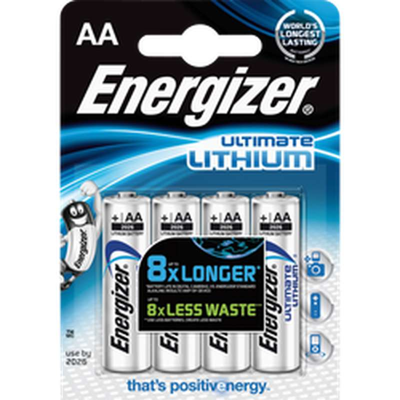 Pile Ultimate Lithium LR6/AA, Energizer (x 4)