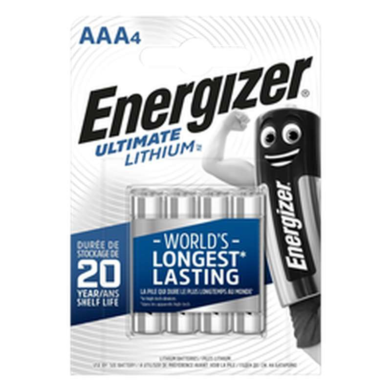 Pile Ultimate Lithium LR3/AAA, Energizer (x 4)