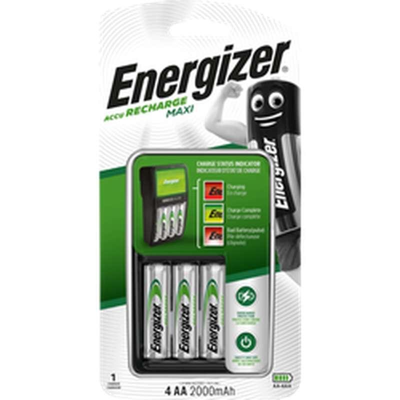 Chargeur maxi pile 6h , Energizer (x4)