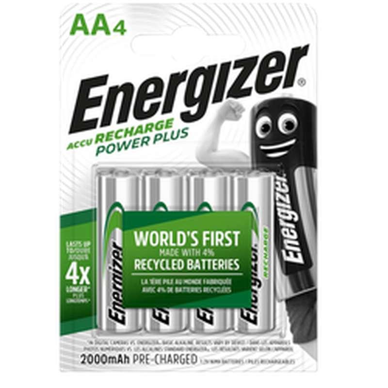 Piles Recharge Power Plus LR6/AA, Energizer (x 4)