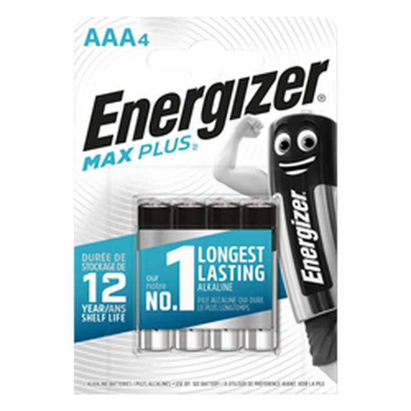 Piles AAA/LR03 Max Plus, Energizer (x 4)