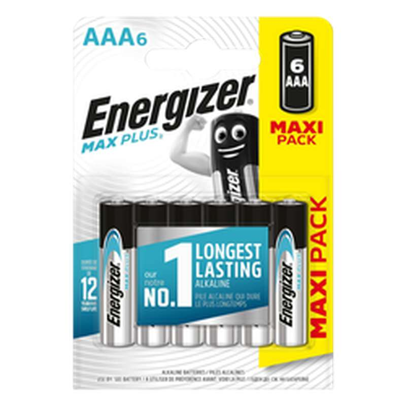 Piles AAA/LR03 Max Plus, Energizer (x 6)