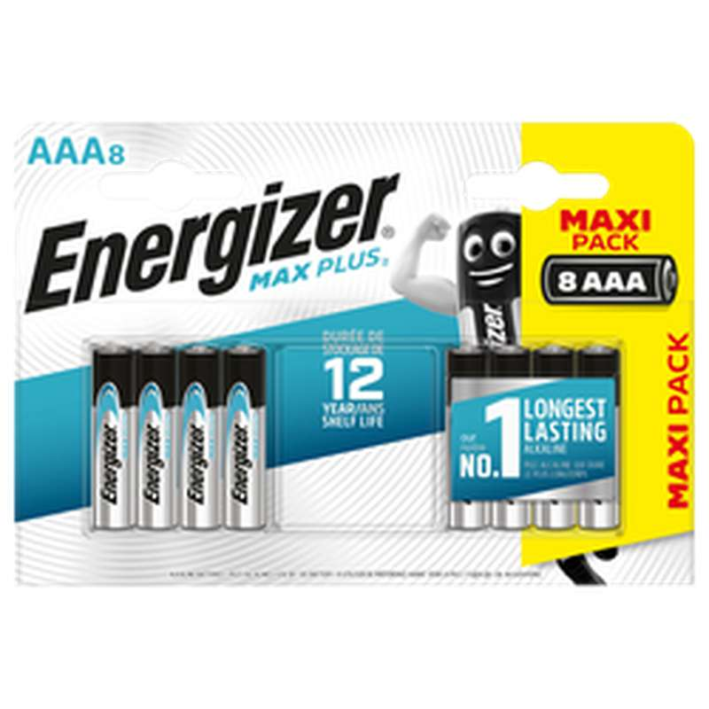 Pile Max Plus LR03/AAA, Energizer (x 8)