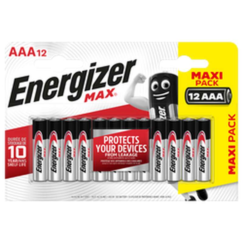 Pile LR03/AAA Max, Energizer (x 12)