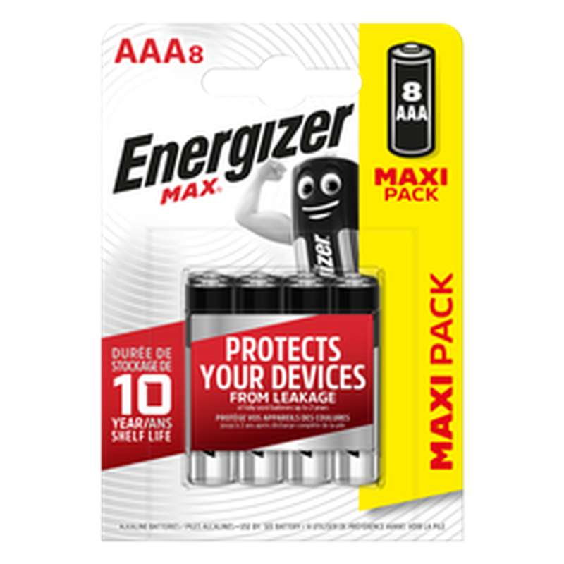 Pile LR03/AAA Max, Energizer (x 8)