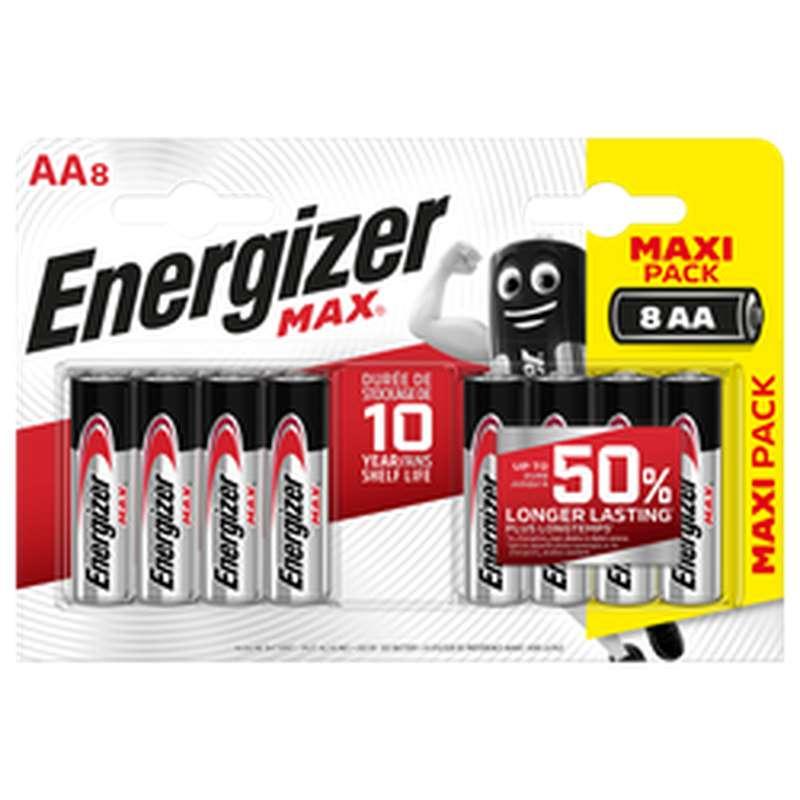 Pile LR6/AA Max, Energizer (x 8)