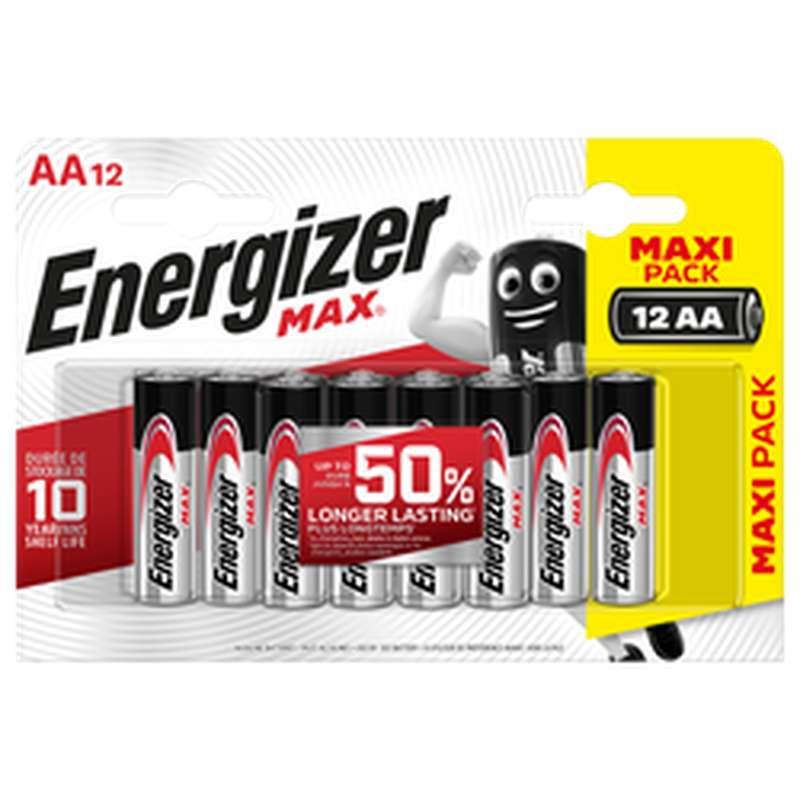 Pile LR6/AA Max, Energizer (x 12)