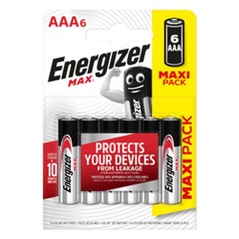 Piles LR03 AAA Max, Energizer (x 6)