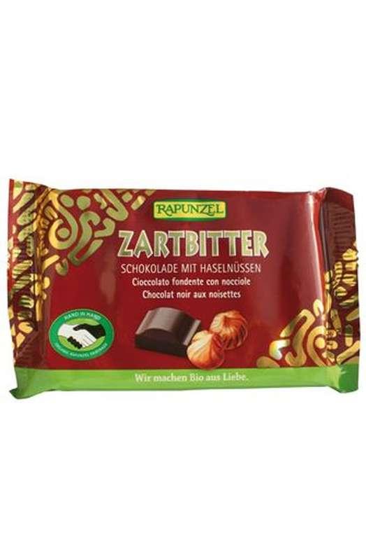Chocolat noir aux noisettes entières BIO, Rapunzel (100 g)