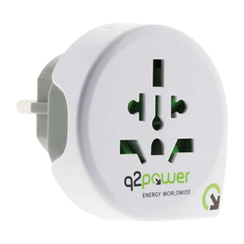 Adaptateur de voyage Europe avec USB, Q2power (x 1)