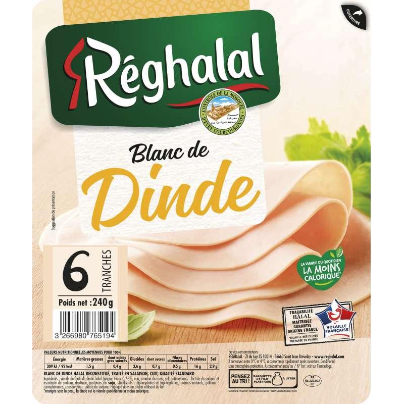 Blanc de dinde Halal, Reghalal (x 6 tranches, 240 g)