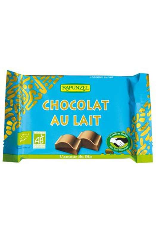 Chocolat au lait BIO, Rapunzel (100 g)