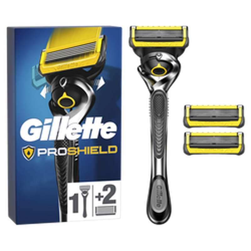 Rasoir Proshield avec 3 recharges, Gillette