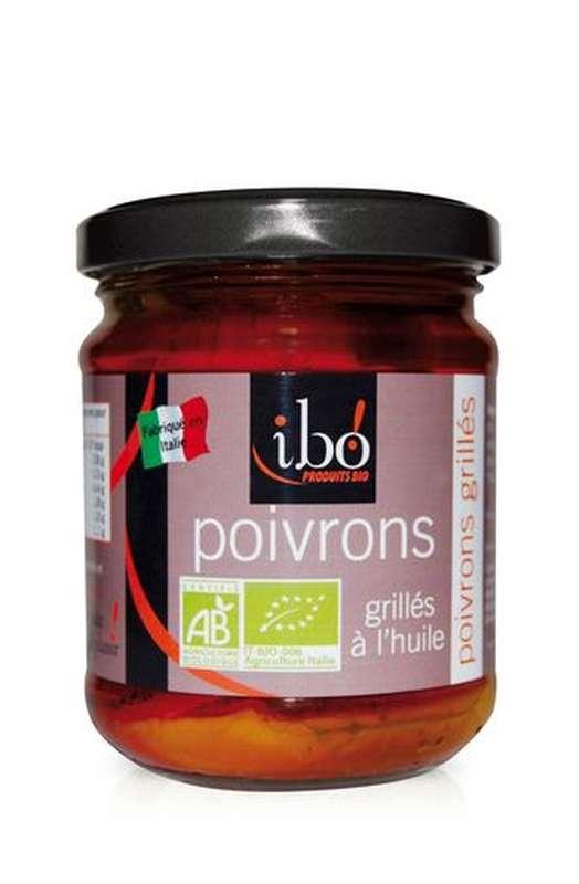 Poivrons grillés à l'huile BIO, Ibo (190 g)