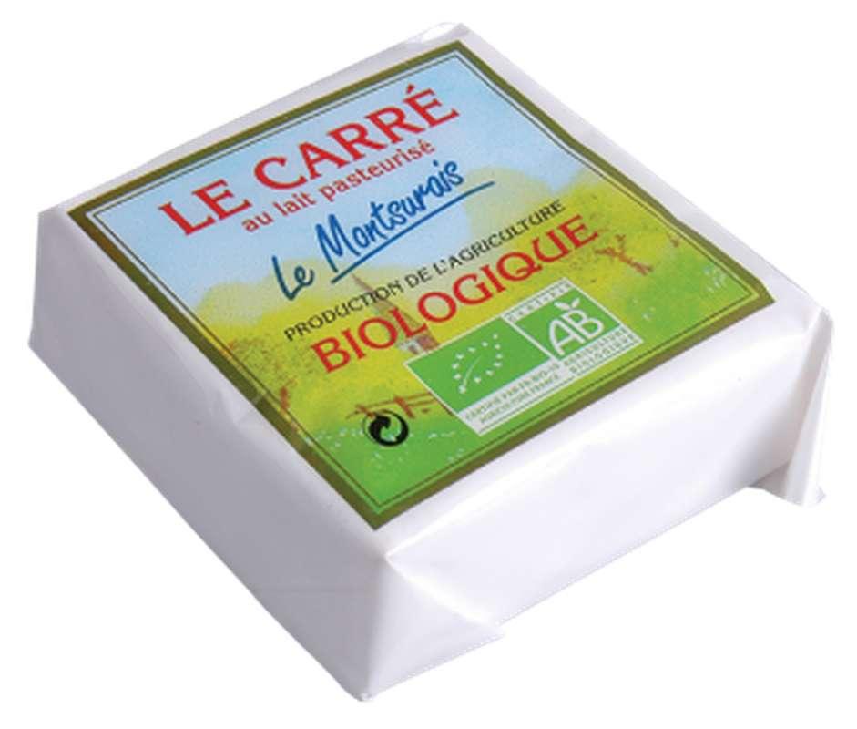 Carré au lait pasteurisé BIO, 20 % MG/PF, Le Montsûrais (200 g)