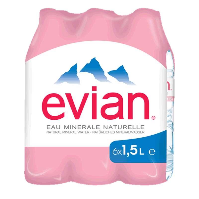 Pack d'Evian (6 x 1,5 L)