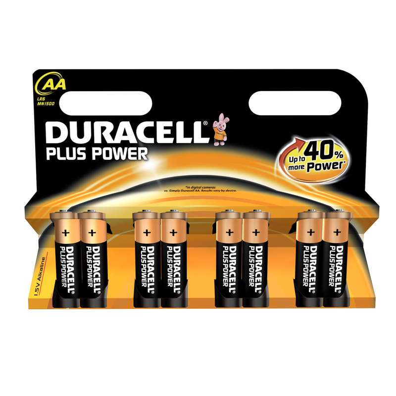 Piles AA/LR06 Plus Power, Duracell (x 8)