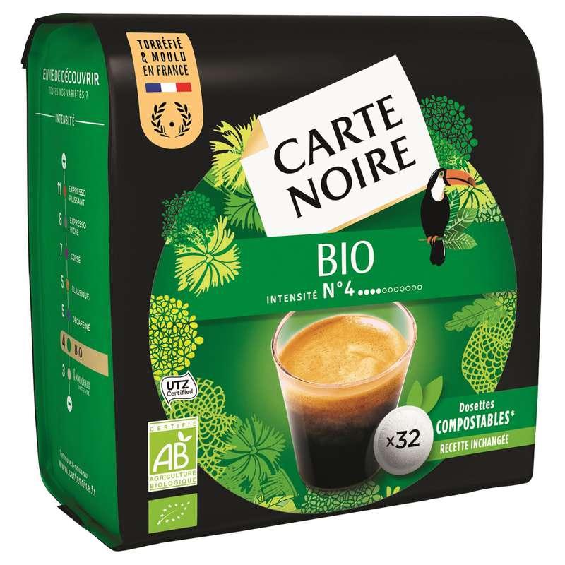 Café dosettes délicat BIO, Carte Noire (x 32)