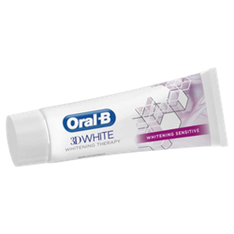 Dentifrice 3D white Therapy Sensitive, Oral B (75 ml)