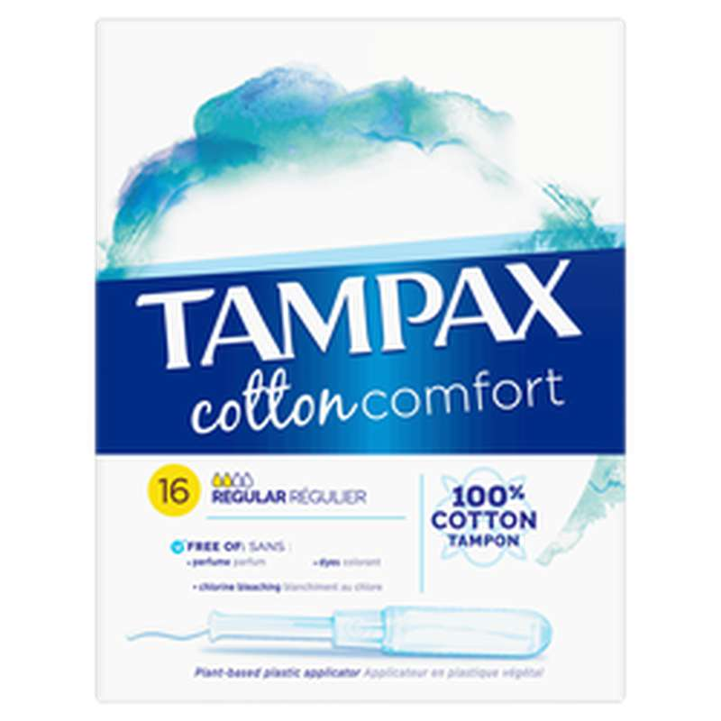 Tampon cotton comfort Regular, Tampax (x 16)
