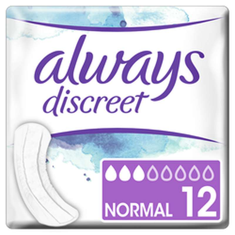 Serviettes Discreet Normal, Always (x 12)