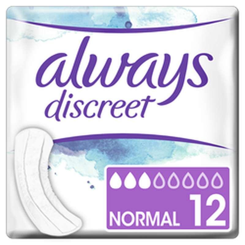 Serviettes Discreet Normal, Always (x 12)