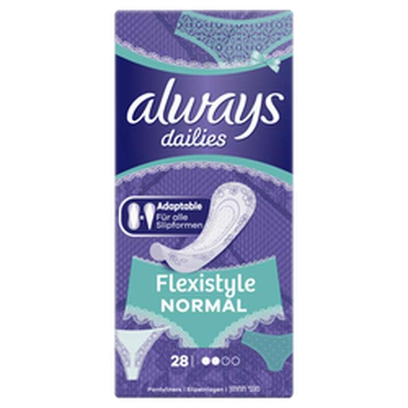 Protège-slips adaptable Flexistyle Normal, Always (x 28)