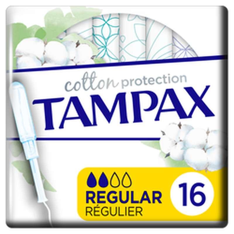 Tampon 100% coton organic Regular, Tampax (x 16)