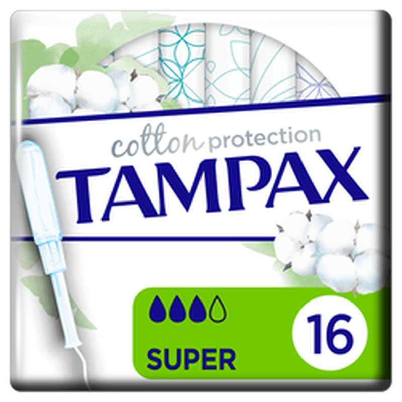 Tampon 100% coton organic Super, Tampax (x 16)