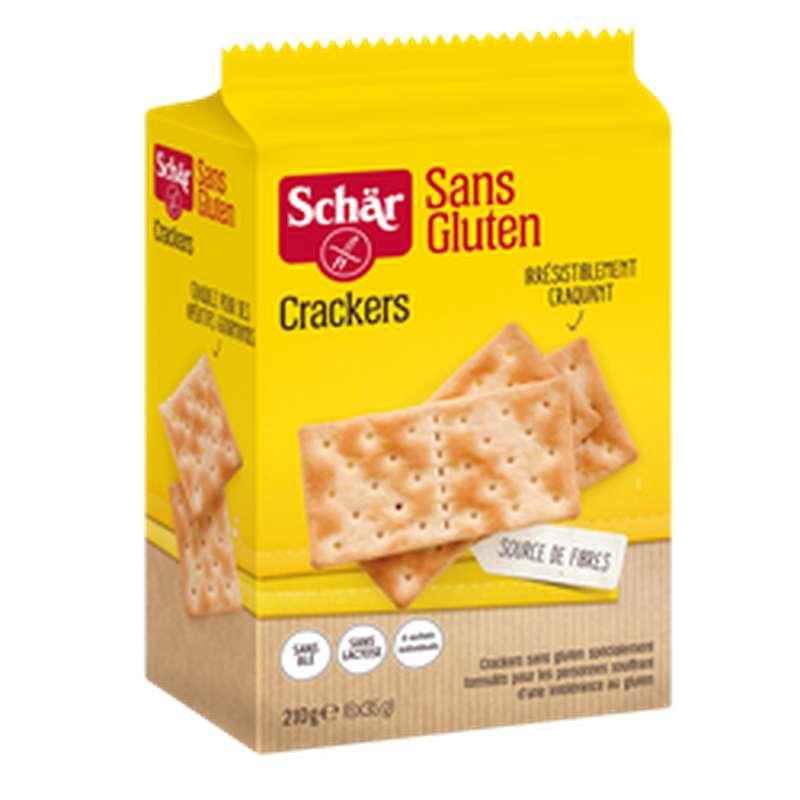 Crackers natures sans gluten, Schar (210 g)
