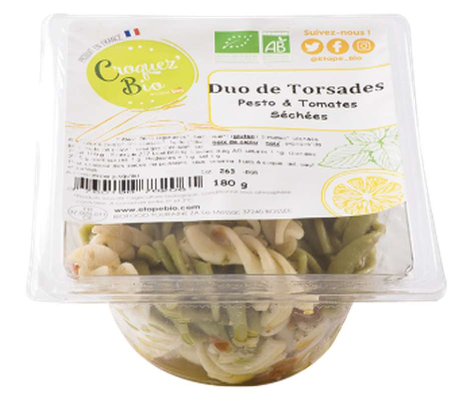Salade de pâtes pesto et tomates séchées BIO, Etape Bio (160 g)