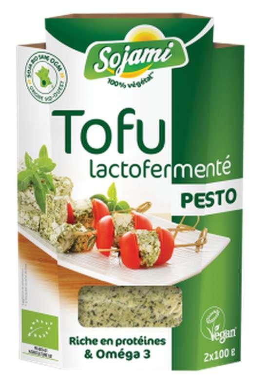 Tofu lactofermenté au pesto BIO, Le Sojami (x 2, 200 g)