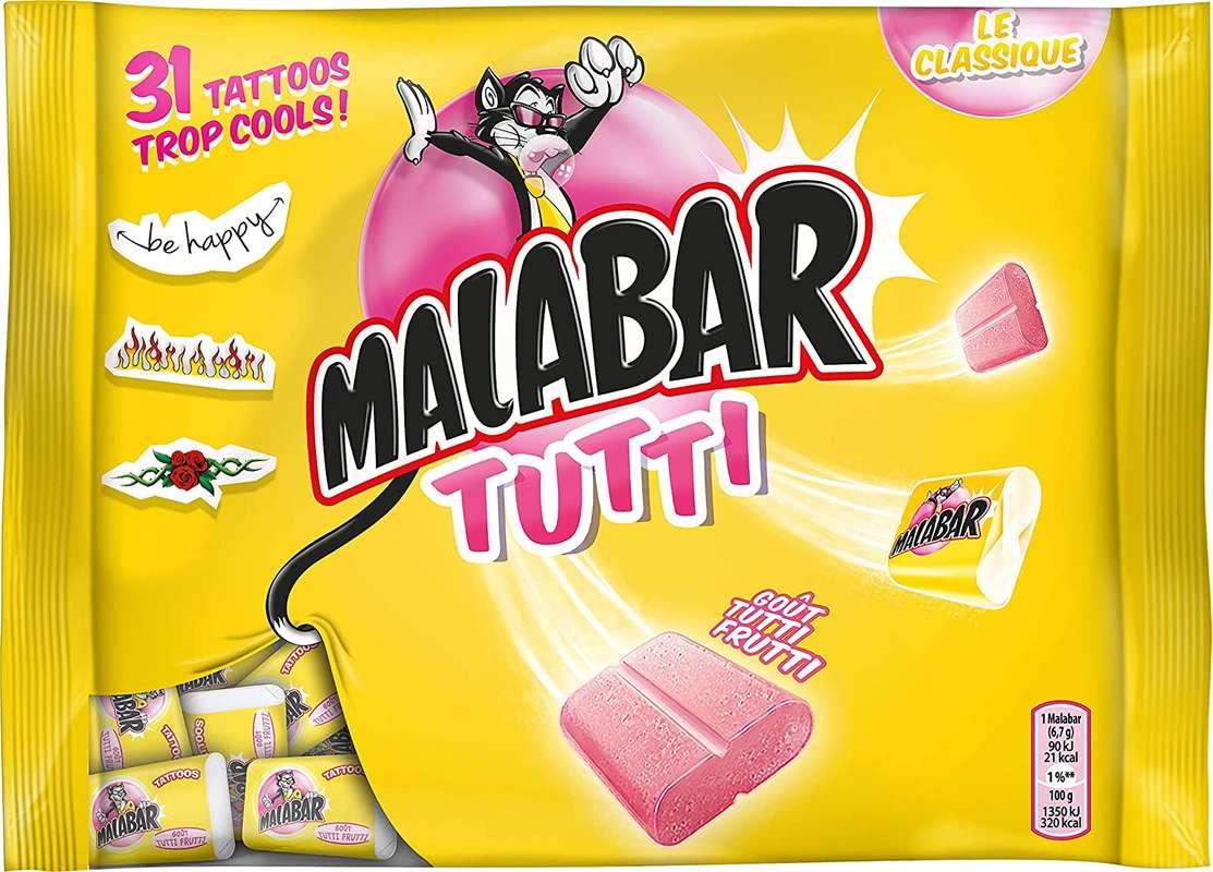 Chewing-gum Tutti Frutti, Malabar (214 g)